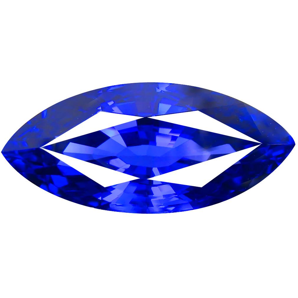 21.93 ct AAAA+ VERY GOOD MARQUISE CUT (26 X 12 MM) 100% NATUAL D'BLOCK PURPLISH BLUE TANZANITE GEMSTONE