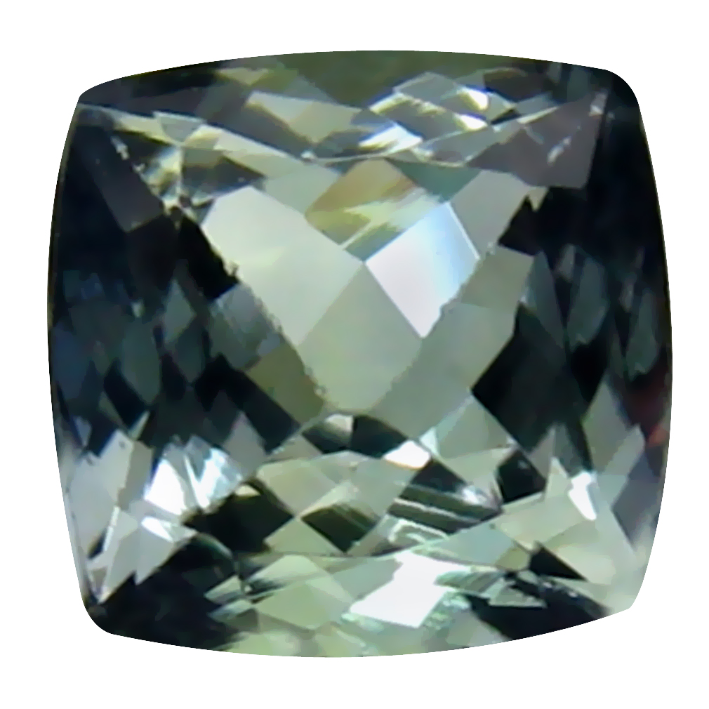 1.12 ct Attractive Cushion Cut (6 x 6 mm) Un-Heated Greenish Blue Tanzanite Natural Gemstone