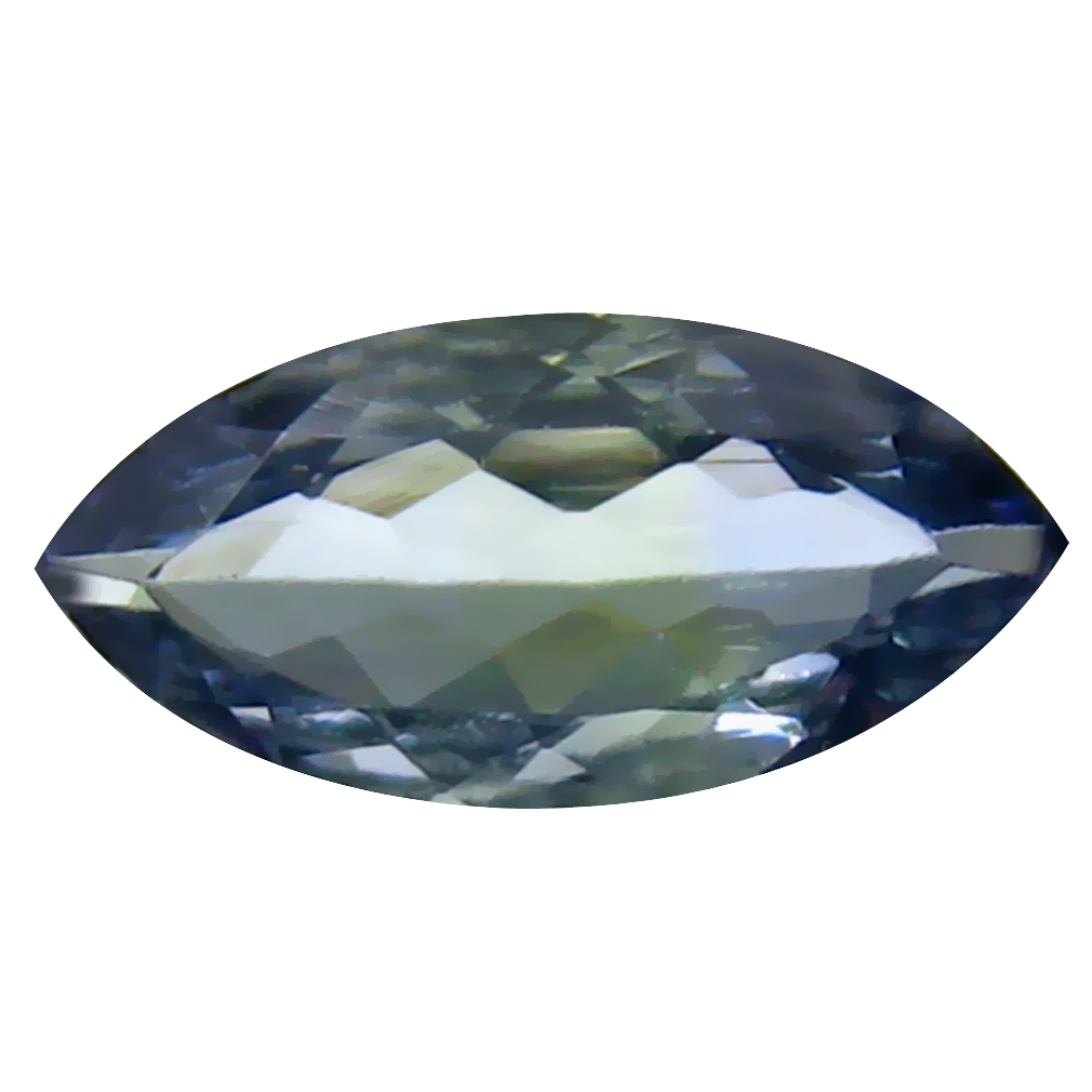0.98 ct Excellent Marquise Cut (10 x 5 mm) Un-Heated Greenish Blue Tanzanite Natural Gemstone