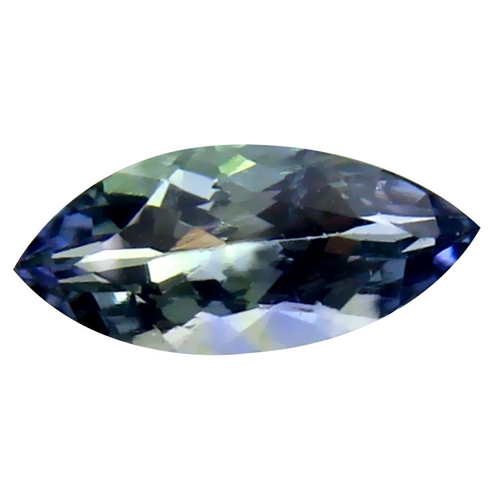 0.94 ct Remarkable Marquise Cut (10 x 4 mm) Un-Heated Bluish Violet Tanzanite Natural Gemstone