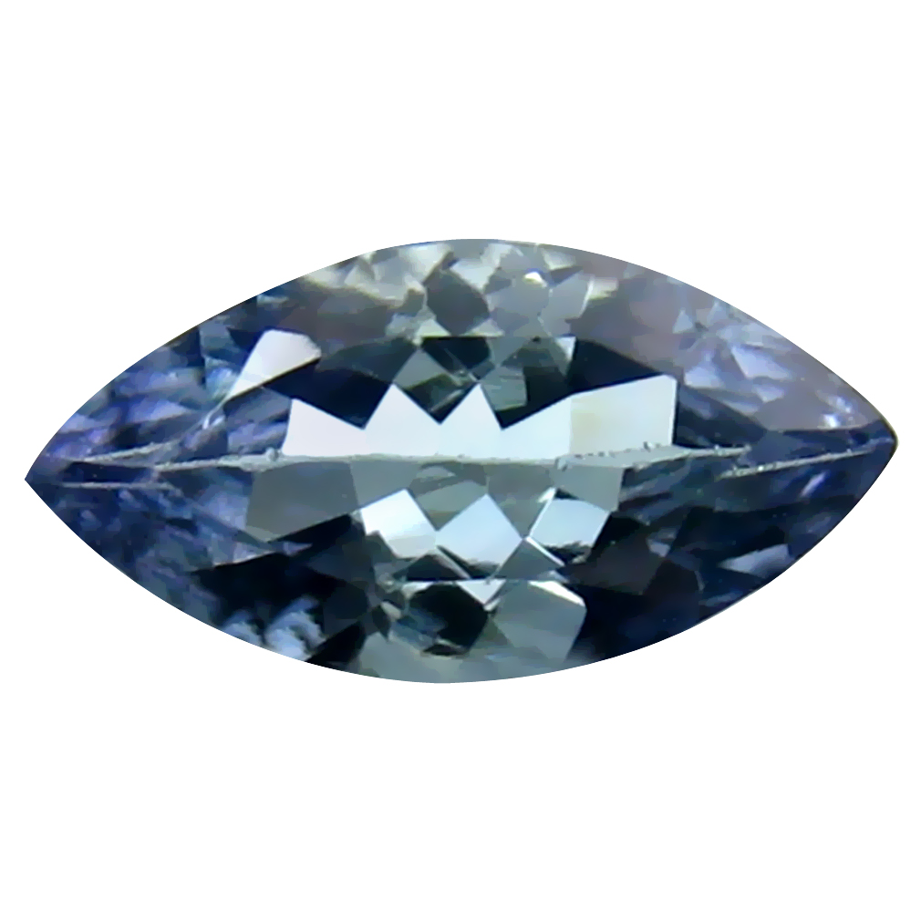 1.08 ct Premium Marquise Cut (10 x 5 mm) Un-Heated Bluish Violet Tanzanite Natural Gemstone