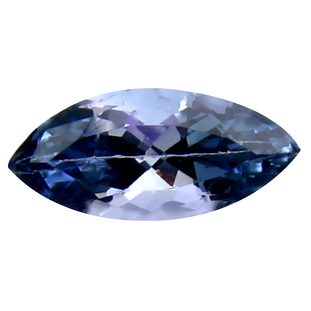 0.96 ct Flashing Marquise Cut (9 x 4 mm) Un-Heated Bluish Violet Tanzanite Natural Gemstone