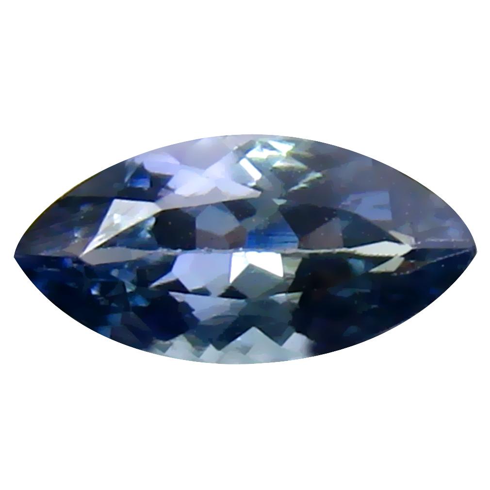 0.81 ct Eye-opening Marquise Cut (9 x 4 mm) Un-Heated Bluish Violet Tanzanite Natural Gemstone