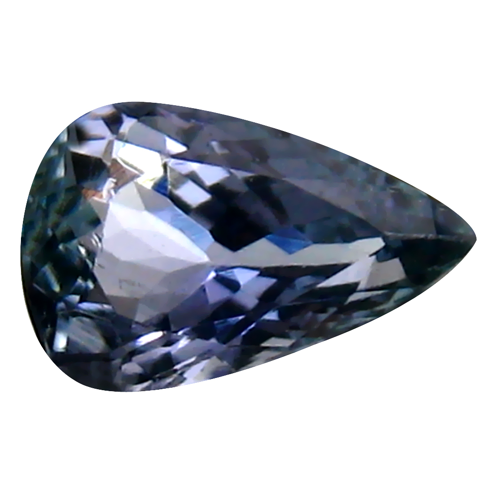 1.18 ct Beautiful Pear Cut (9 x 6 mm) Un-Heated Bluish Violet Tanzanite Natural Gemstone