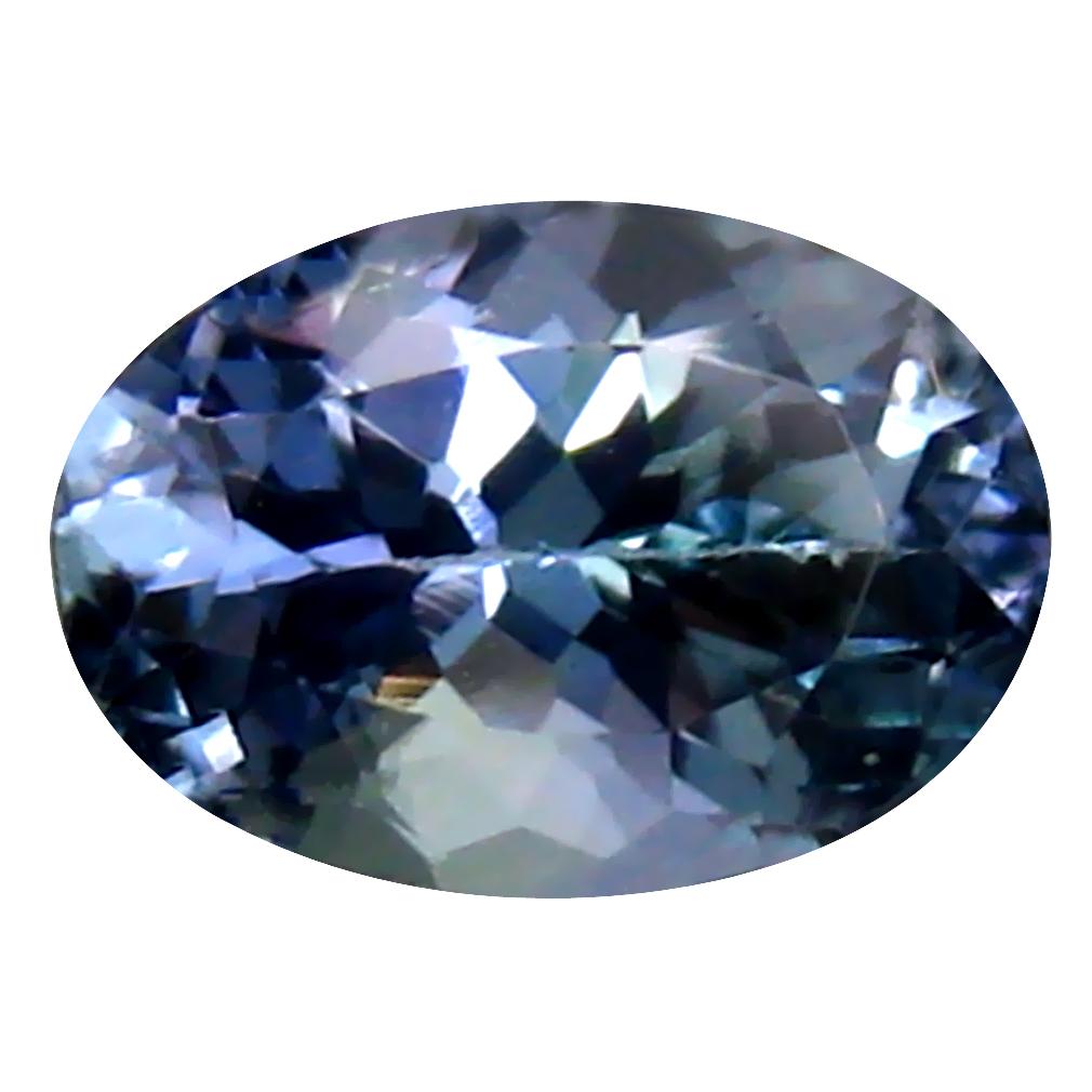 0.98 ct Stunning Oval Cut (7 x 5 mm) Un-Heated Bluish Violet Tanzanite Natural Gemstone