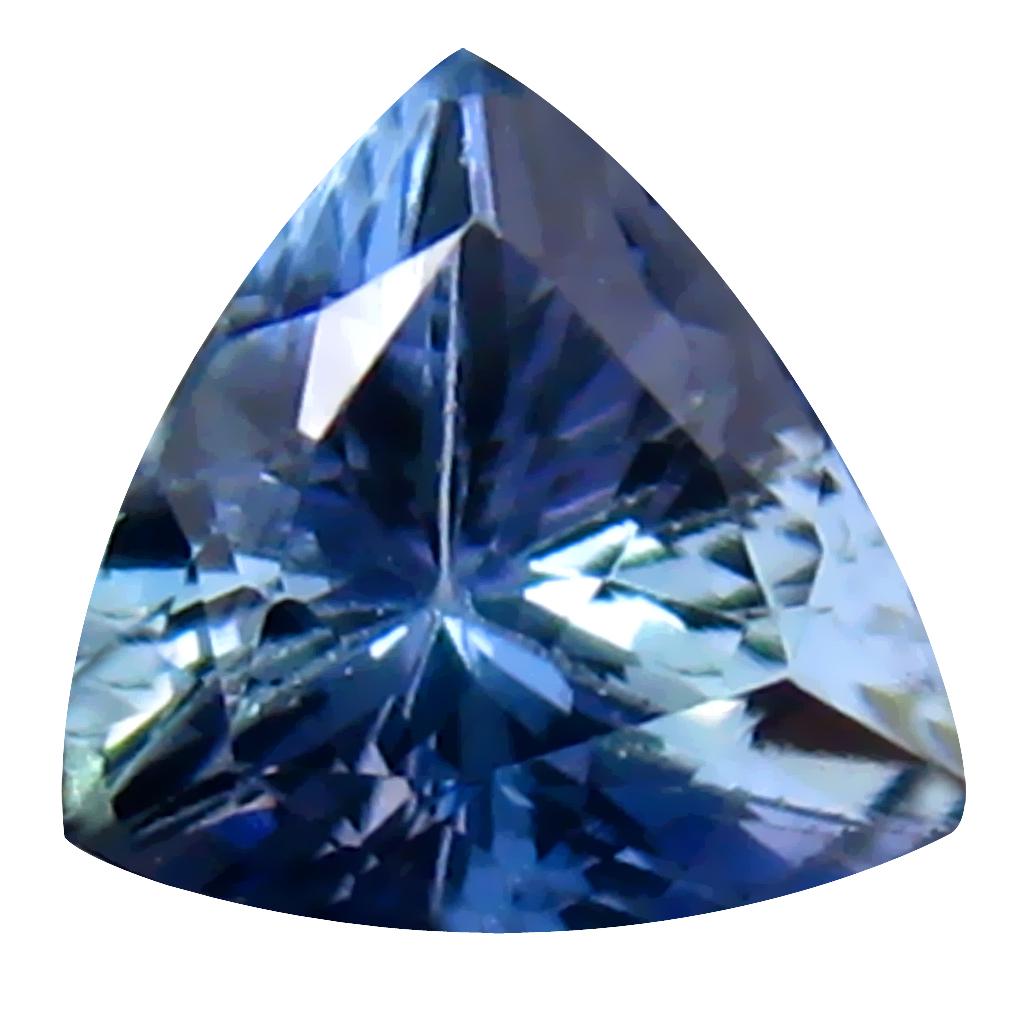 0.86 ct Shimmering Trillion Cut (6 x 6 mm) Un-Heated Bluish Violet Tanzanite Natural Gemstone