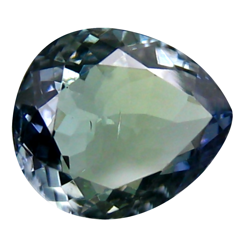 1.50 ct Gorgeous Pear Cut (8 x 7 mm) Greenish Blue Un-Heated Tanzanite Natural Gemstone