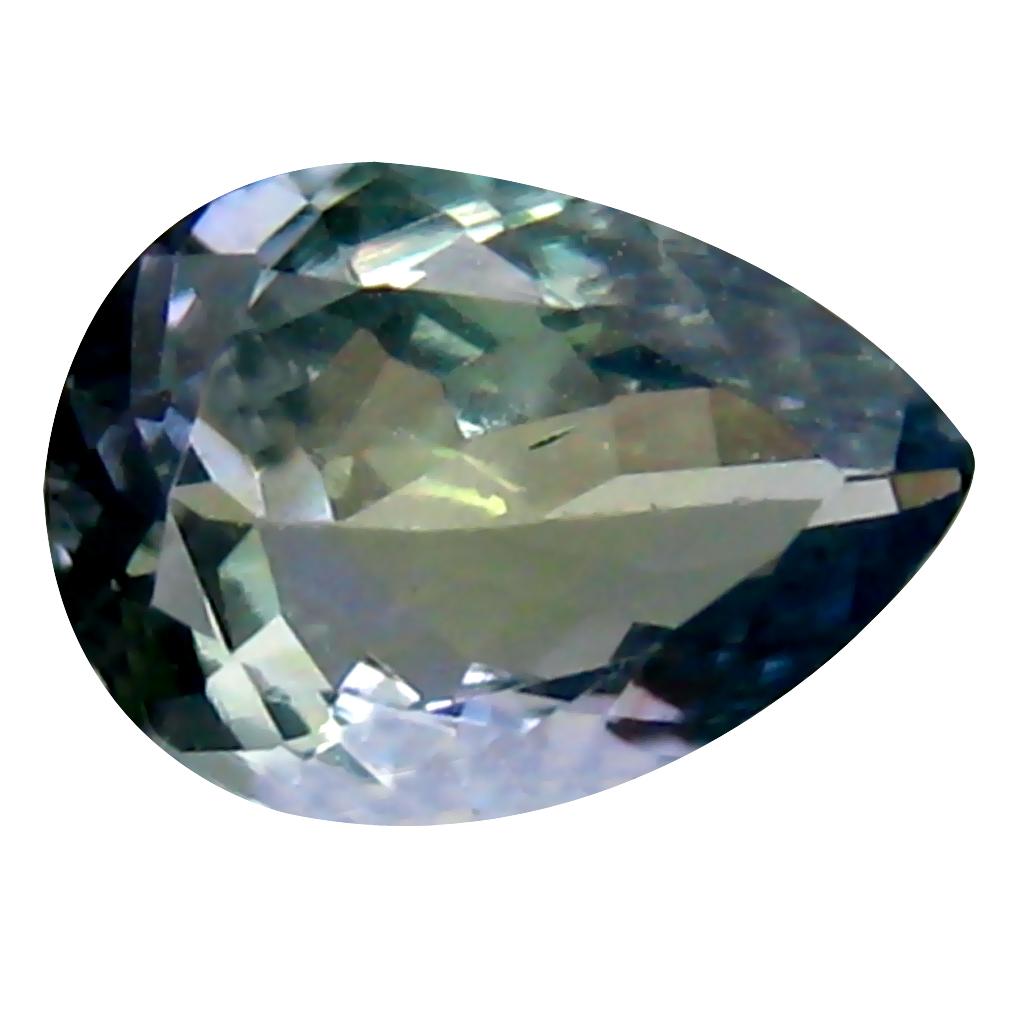 1.07 ct Outstanding Pear Cut (9 x 6 mm) Greenish Blue Un-Heated Tanzanite Natural Gemstone