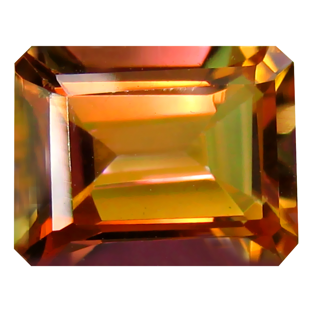 2.80 ct (1 pcs) Pretty Octagon Cut (9 x 7 mm) Multi Color Azotic Ecstacy Topaz Natural Gemstone