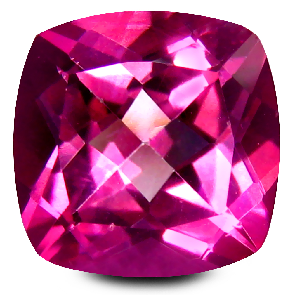 3.74 ct AAA+ Fantastic Cushion Shape (9 x 9 mm) Natural Pink Topaz Loose Stone