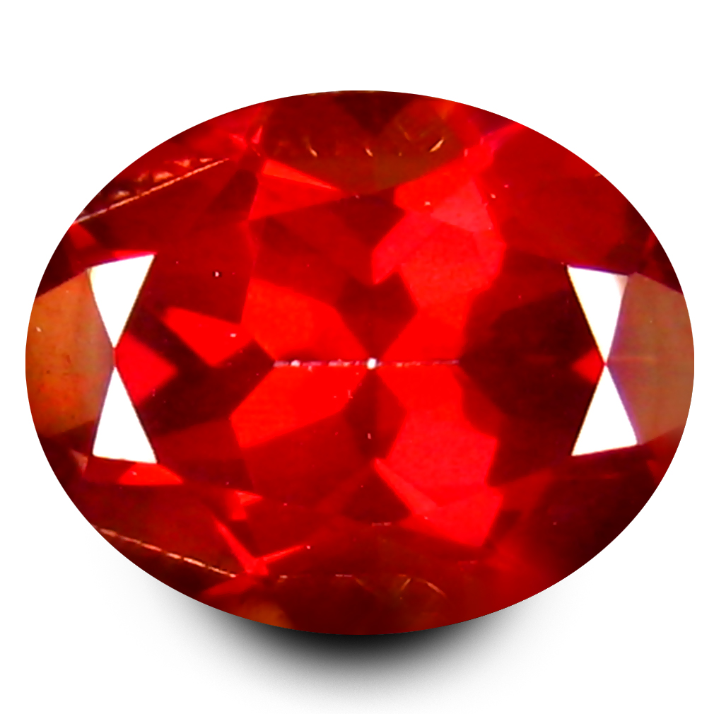 3.33 ct AAA+ Superior Oval Shape (10 x 8 mm) Natural Crimson Red Topaz Loose Stone