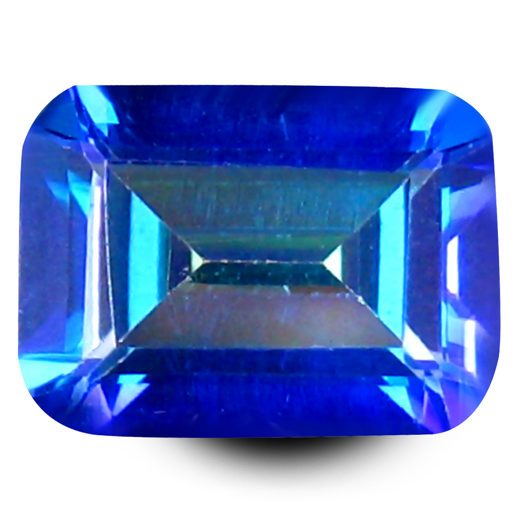 1.78 ct AAA+ Awe-inspiring Octagon Shape (8 x 6 mm) Blue Sheer Luck Topaz Natural Gemstone
