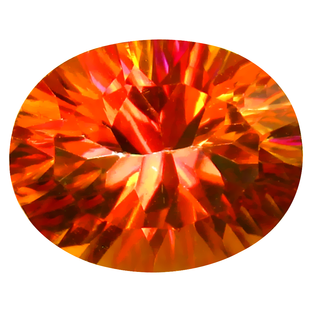 3.44 ct AAA+ Eye-popping Oval Shape (10 x 8 mm) Multi Color Azotic Ecstacy Topaz Natural Gemstone