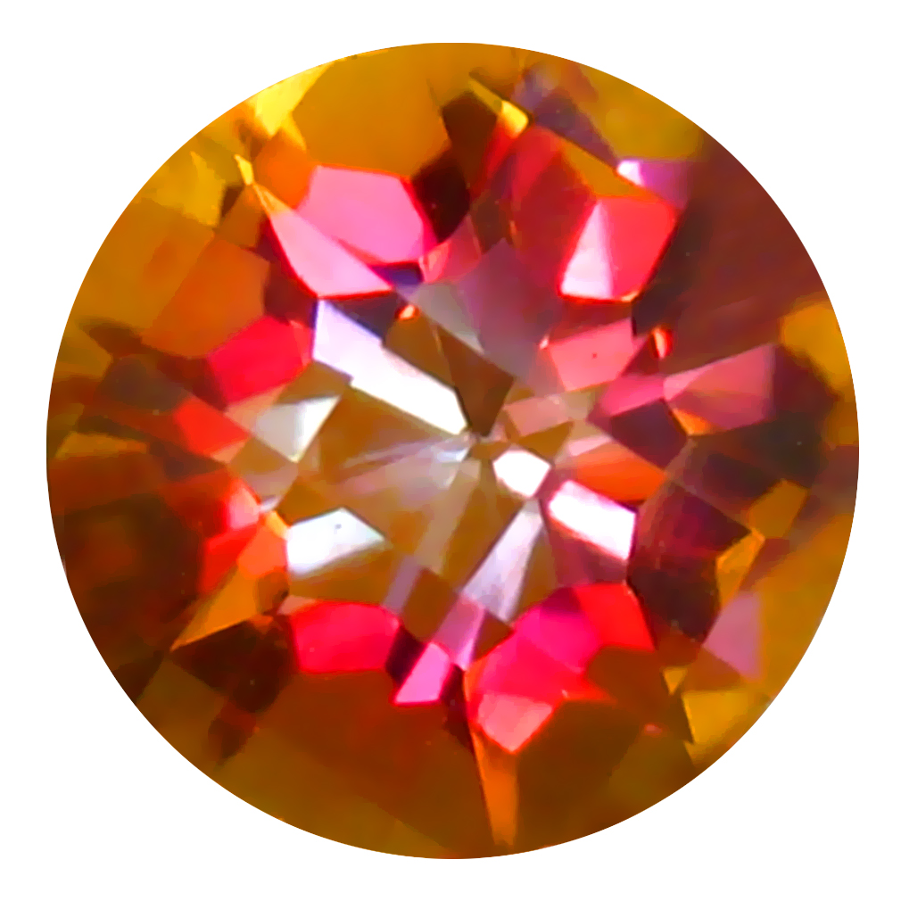 1.69 ct AAA+ Five-star Round Shape (7 x 7 mm) Multi Color Azotic Ecstacy Topaz Natural Gemstone