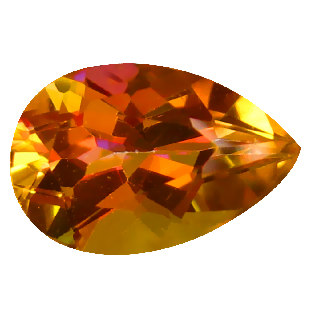 1.89 ct AAA+ Mind-Boggling Pear Shape (9 x 6 mm) Multi Color Azotic Ecstacy Topaz Natural Gemstone