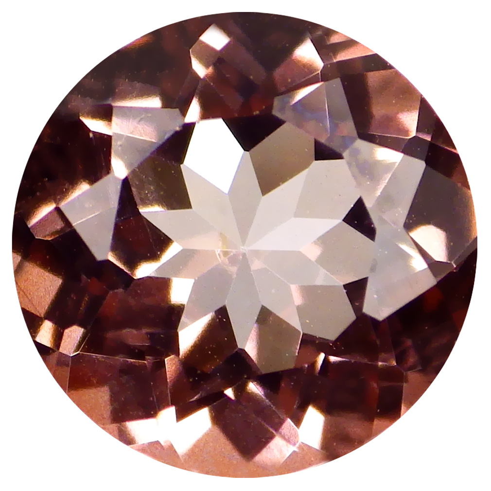 3.02 ct Incredible Round Cut (9 x 9 mm) United States Peach Pink Salmon Ice Topaz Natural Gemstone