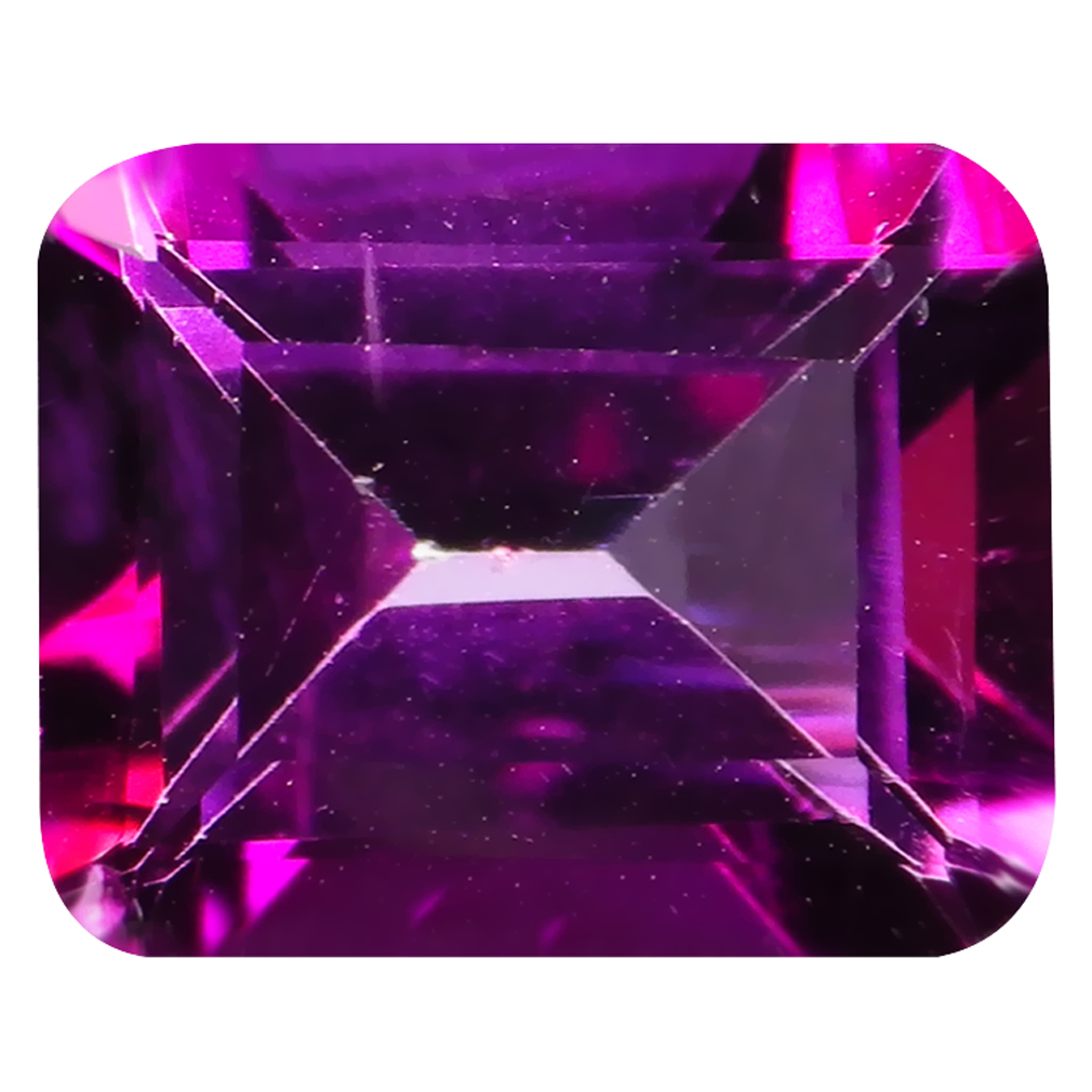 3.87 ct Super-Excellent Octagon Cut (10 x 8 mm) United States Pink Raspberry Passion Topaz Natural Gemstone