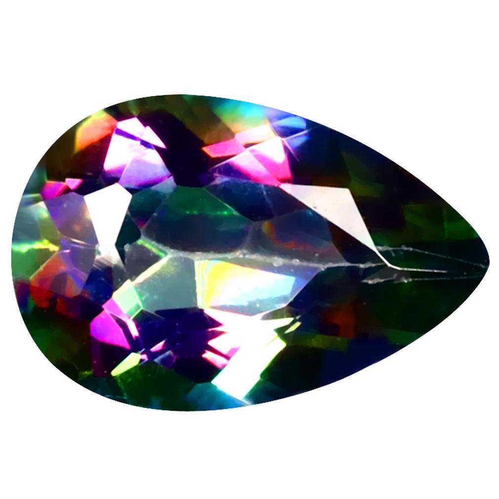 3.62 ct Astonishing Pear Cut (12 x 8 mm) United States Mystic Blue Mystic Universe Natural Gemstone
