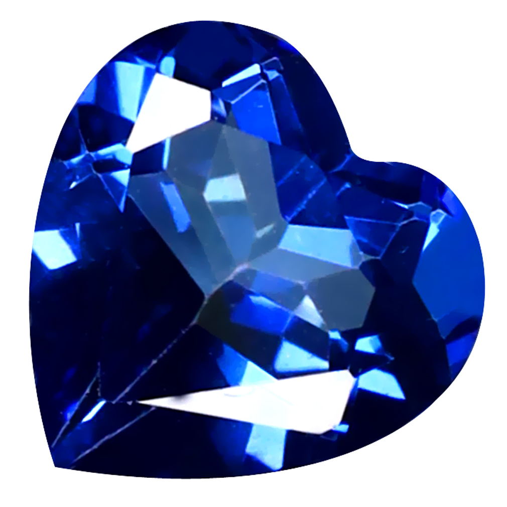 1.27 ct Tremendous Heart Cut (7 x 7 mm) Azotic Color Coating Natural Blue Passion Topaz Loose Gemstone