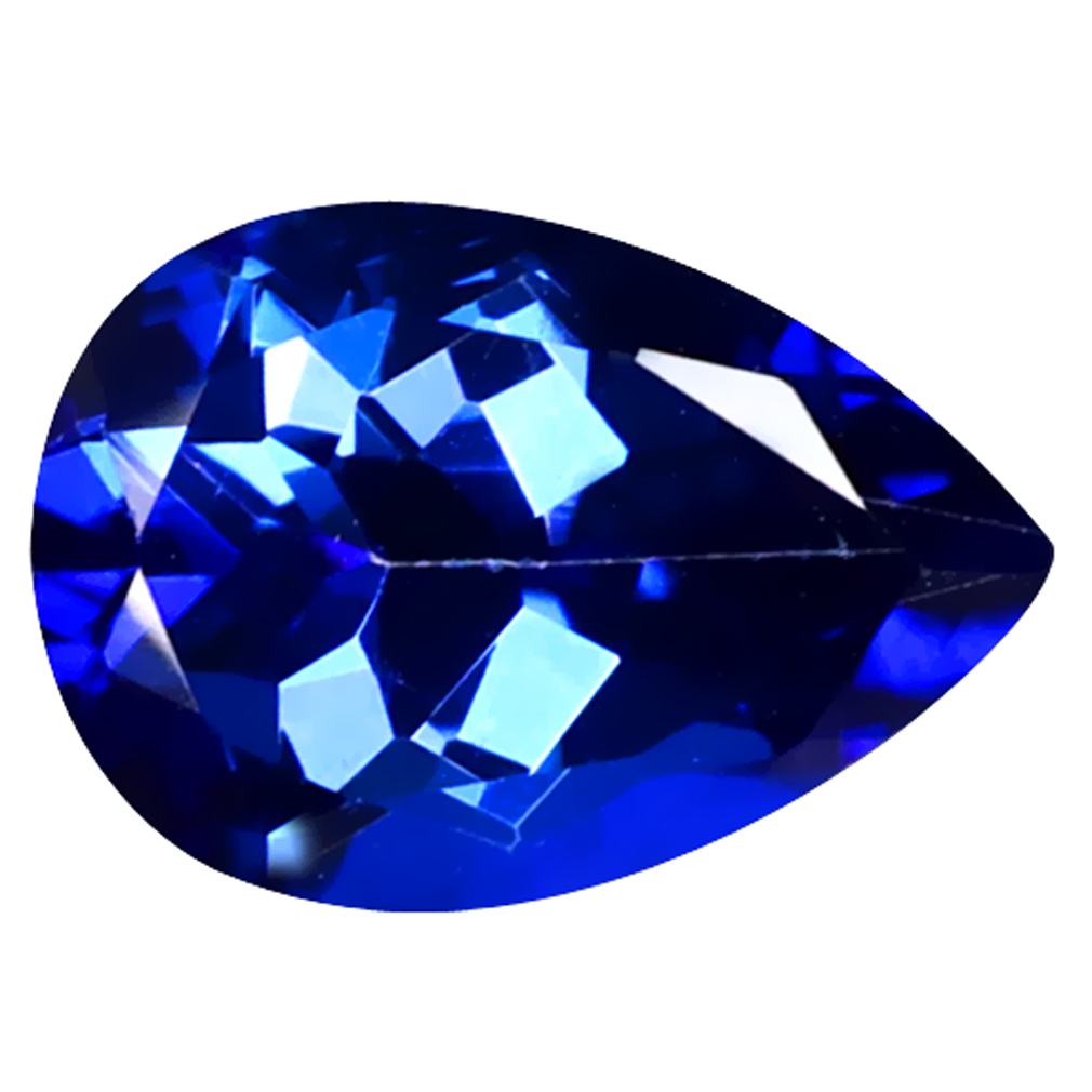 2.26 ct Great looking Pear Cut (10 x 7 mm) Azotic Color Coating Natural Blue Passion Topaz Loose Gemstone