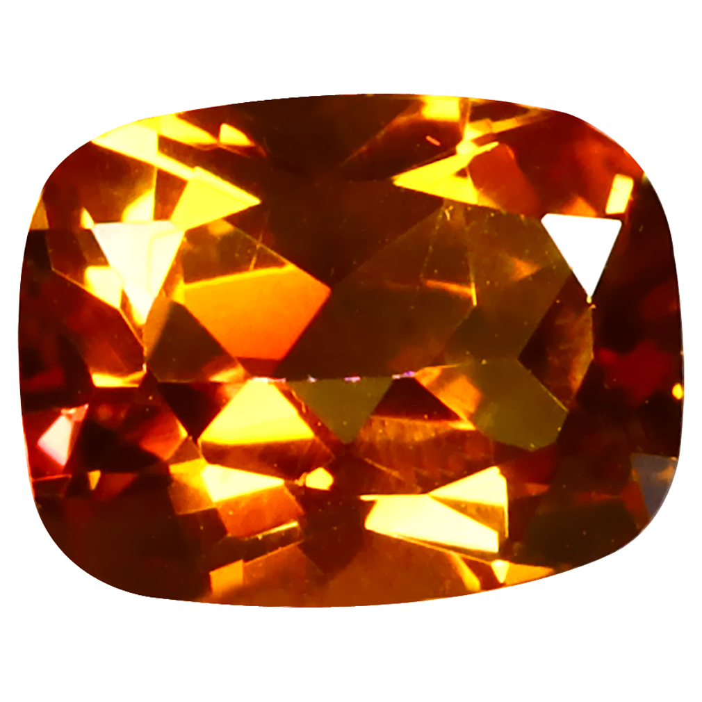 2.44 ct Incredible Cushion (9 x 7 mm) Azotic Color Coating United States Autumn's Fire Topaz Loose Gemstone