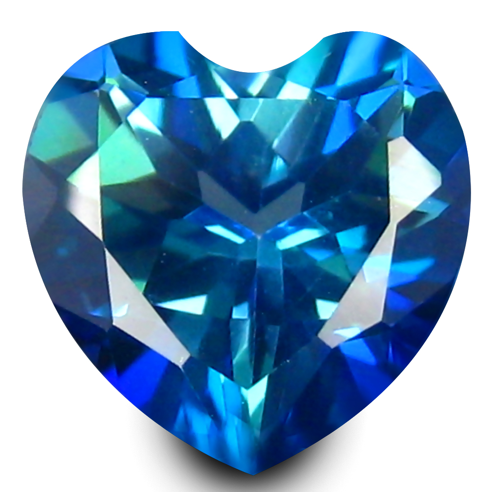 2.30 ct AAA+ Superior Heart Shape (8 x 8 mm) Mystic Blue Neptune Garden Topaz Natural Gemstone