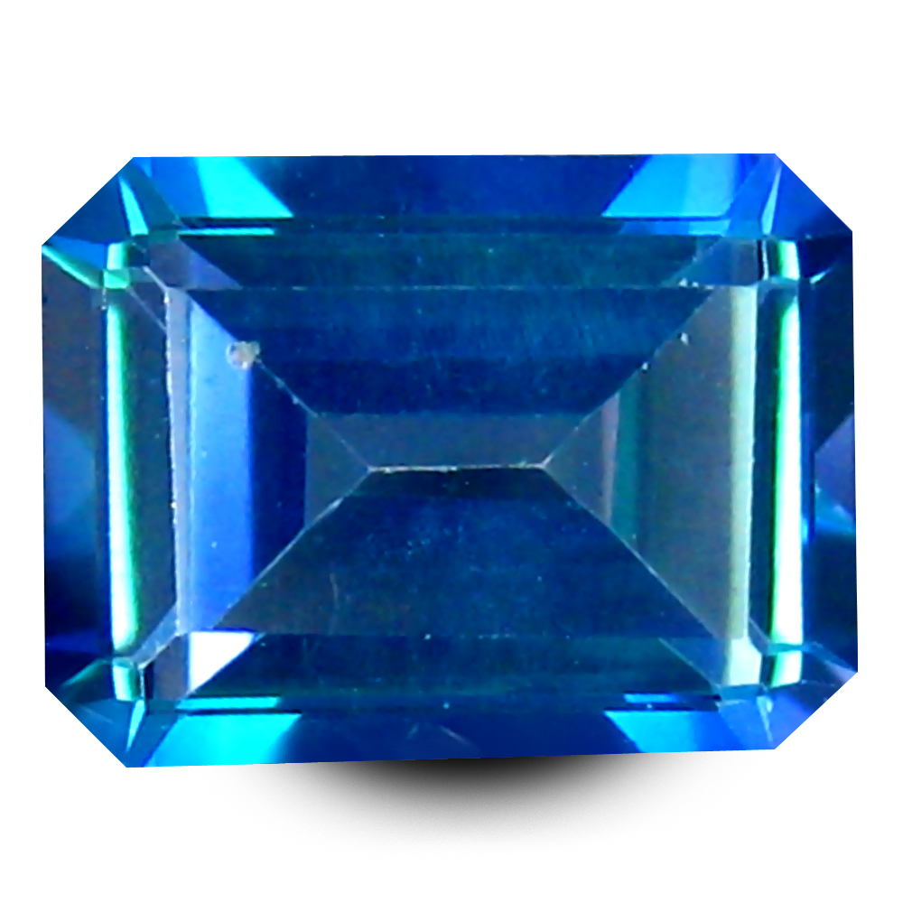 1.98 ct AAA+ Premium Emerald Shape (8 x 6 mm) Mystic Blue Neptune Garden Topaz Natural Gemstone