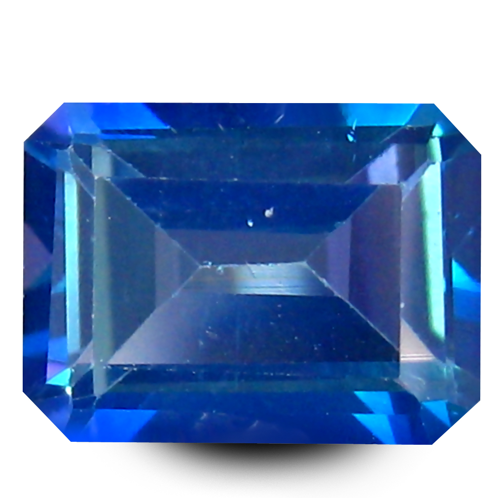 1.95 ct AAA+ Incomparable Emerald Shape (8 x 6 mm) Mystic Blue Neptune Garden Topaz Natural Gemstone