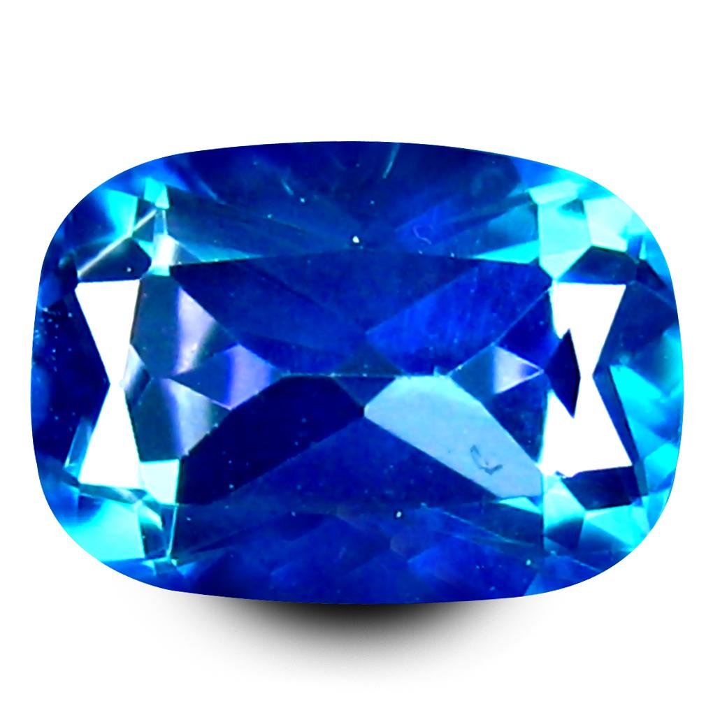 1.06 ct AAA+ Wonderful Cushion Shape (7 x 5 mm) Mystic Blue Neptune Garden Topaz Natural Gemstone
