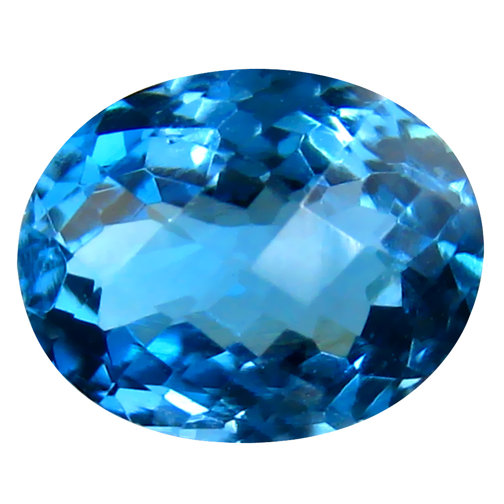 3.23 ct Incredible Oval (10 x 8 mm) Brazilian London Blue Topaz Loose Gemstone