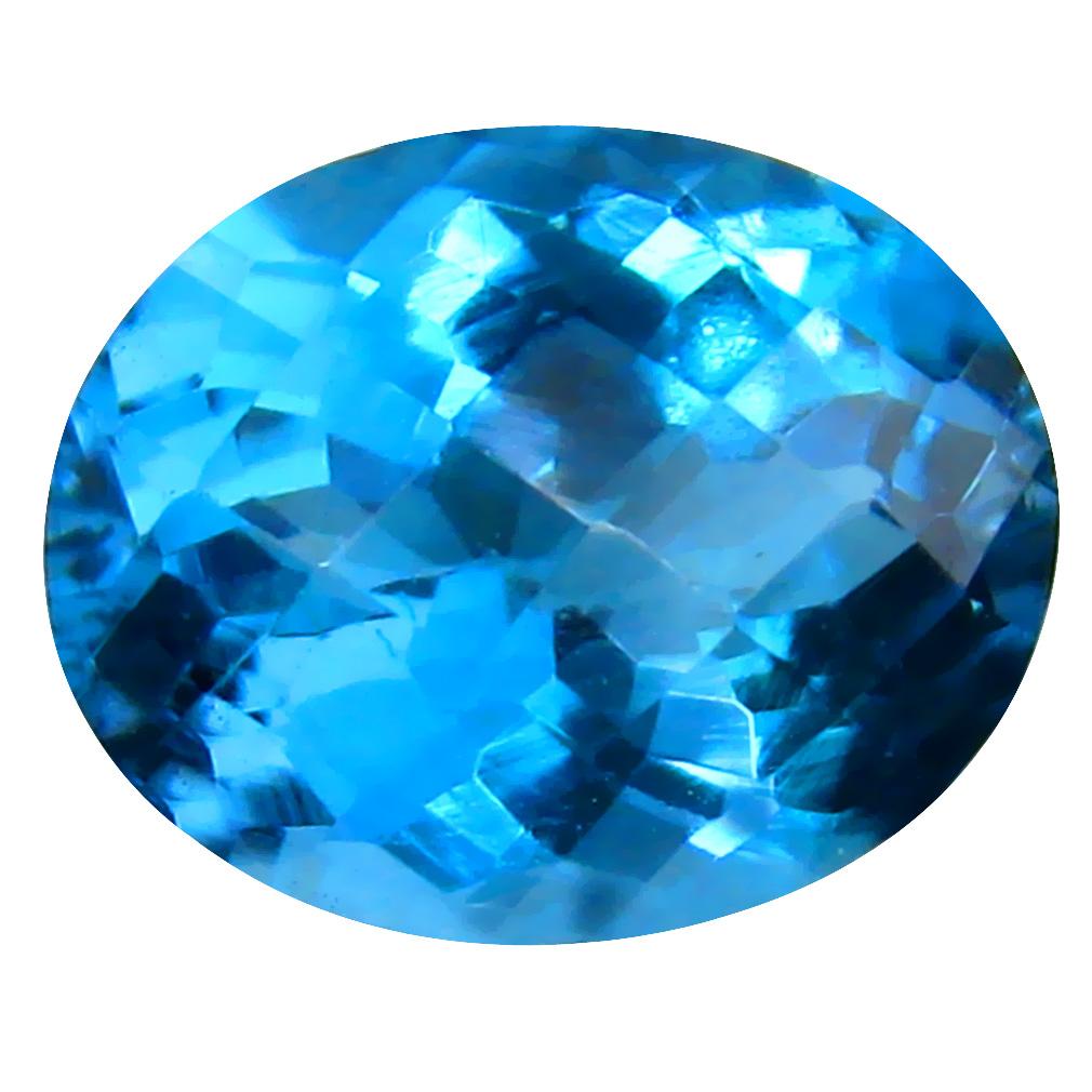 3.38 ct Topnotch Oval (10 x 8 mm) Brazilian London Blue Topaz Loose Gemstone