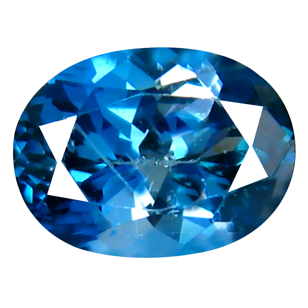 1.50 ct Marvelous Oval (8 x 6 mm) Brazilian London Blue Topaz Loose Gemstone