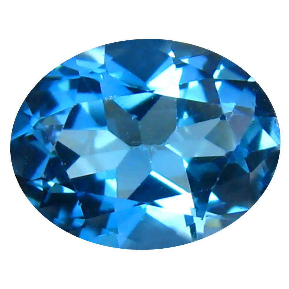 1.91 ct Lovely Oval (9 x 7 mm) Brazilian London Blue Topaz Loose Gemstone
