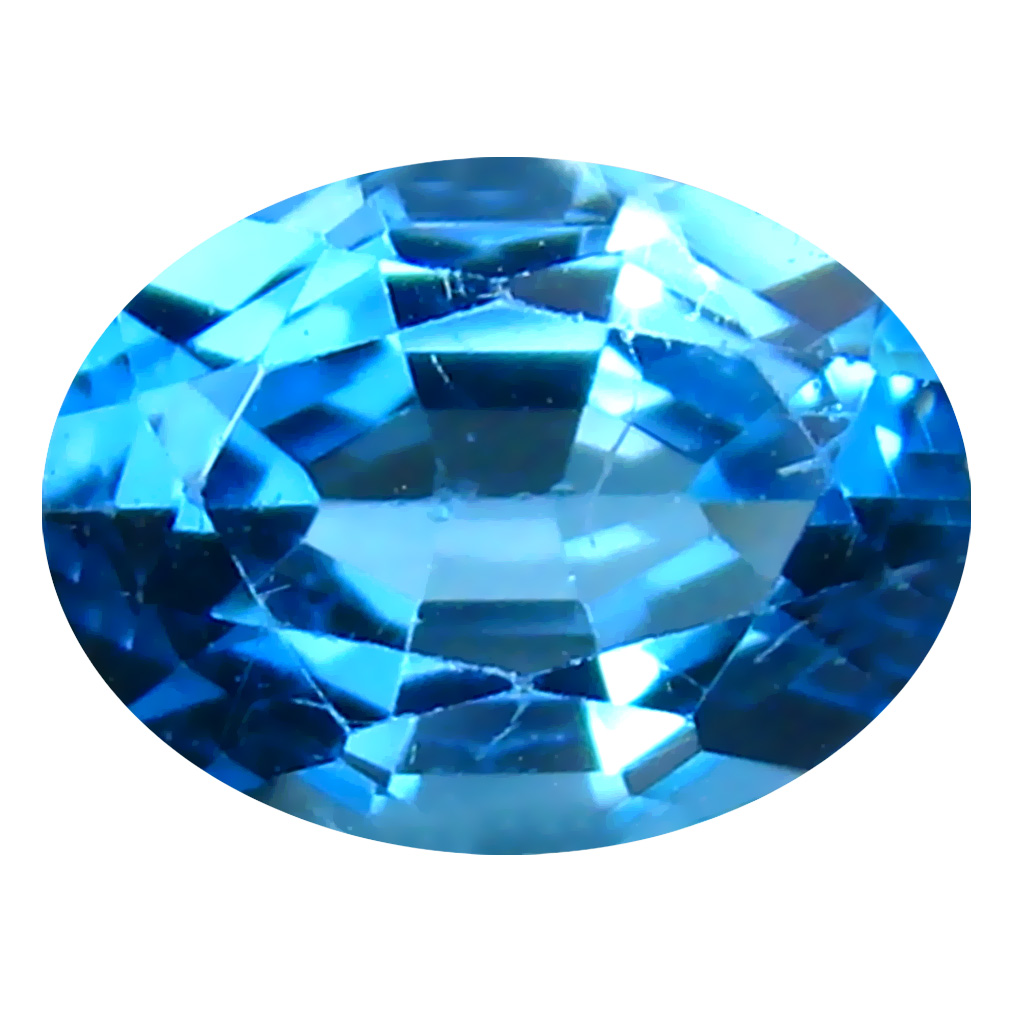1.45 ct Topnotch Oval (8 x 6 mm) Brazilian London Blue Topaz Loose Gemstone
