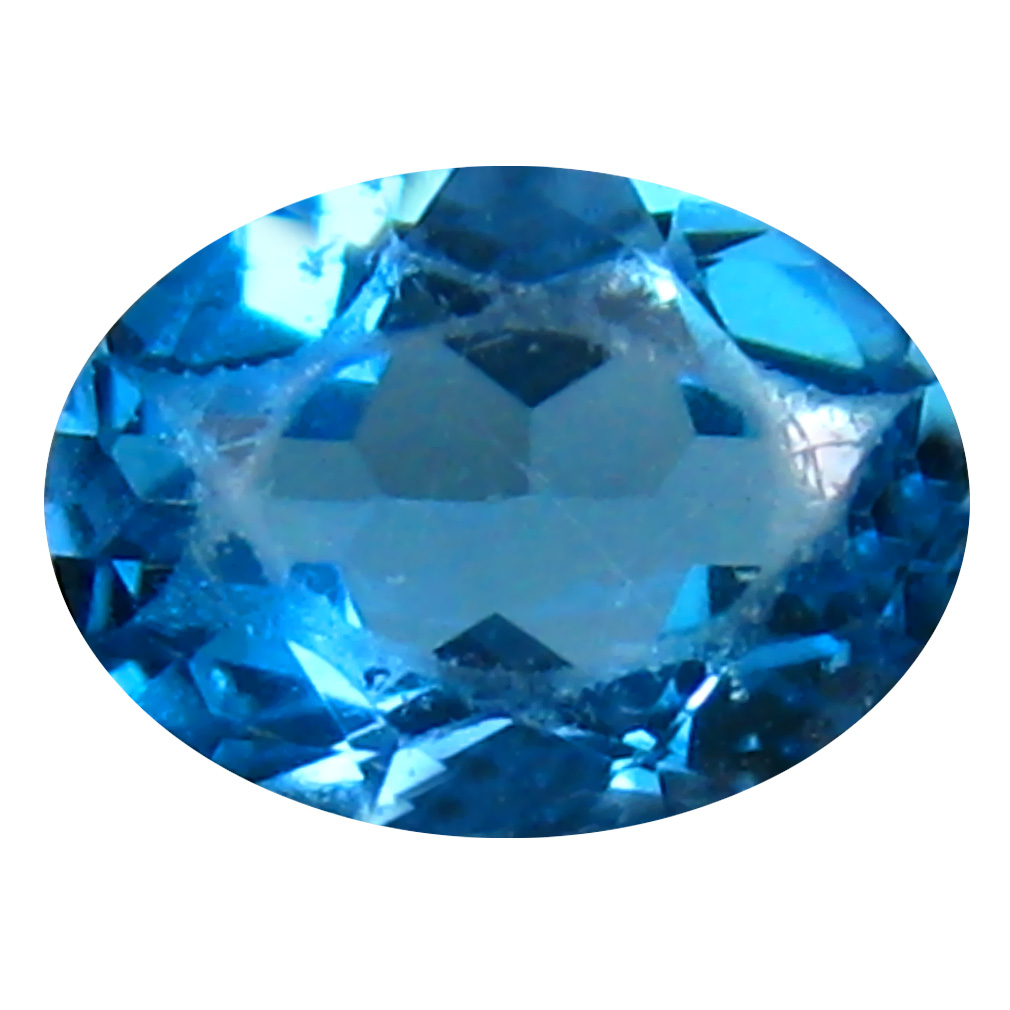 0.94 ct Pretty Oval (7 x 5 mm) Brazilian London Blue Topaz Loose Gemstone