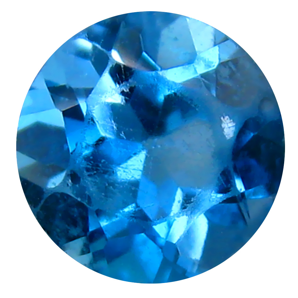 2.33 ct Superb Round (8 x 8 mm) Brazilian London Blue Topaz Loose Gemstone