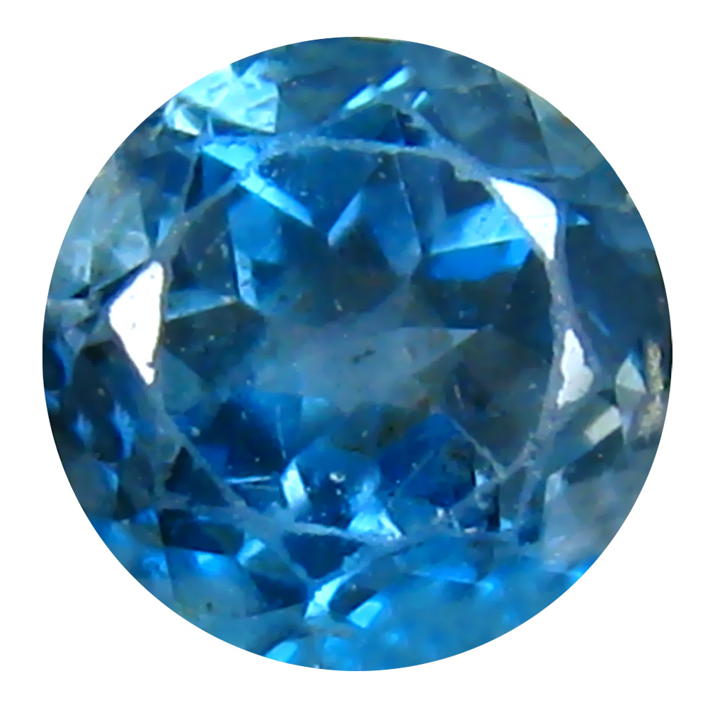 1.08 ct Fair Round (6 x 6 mm) Brazilian London Blue Topaz Loose Gemstone