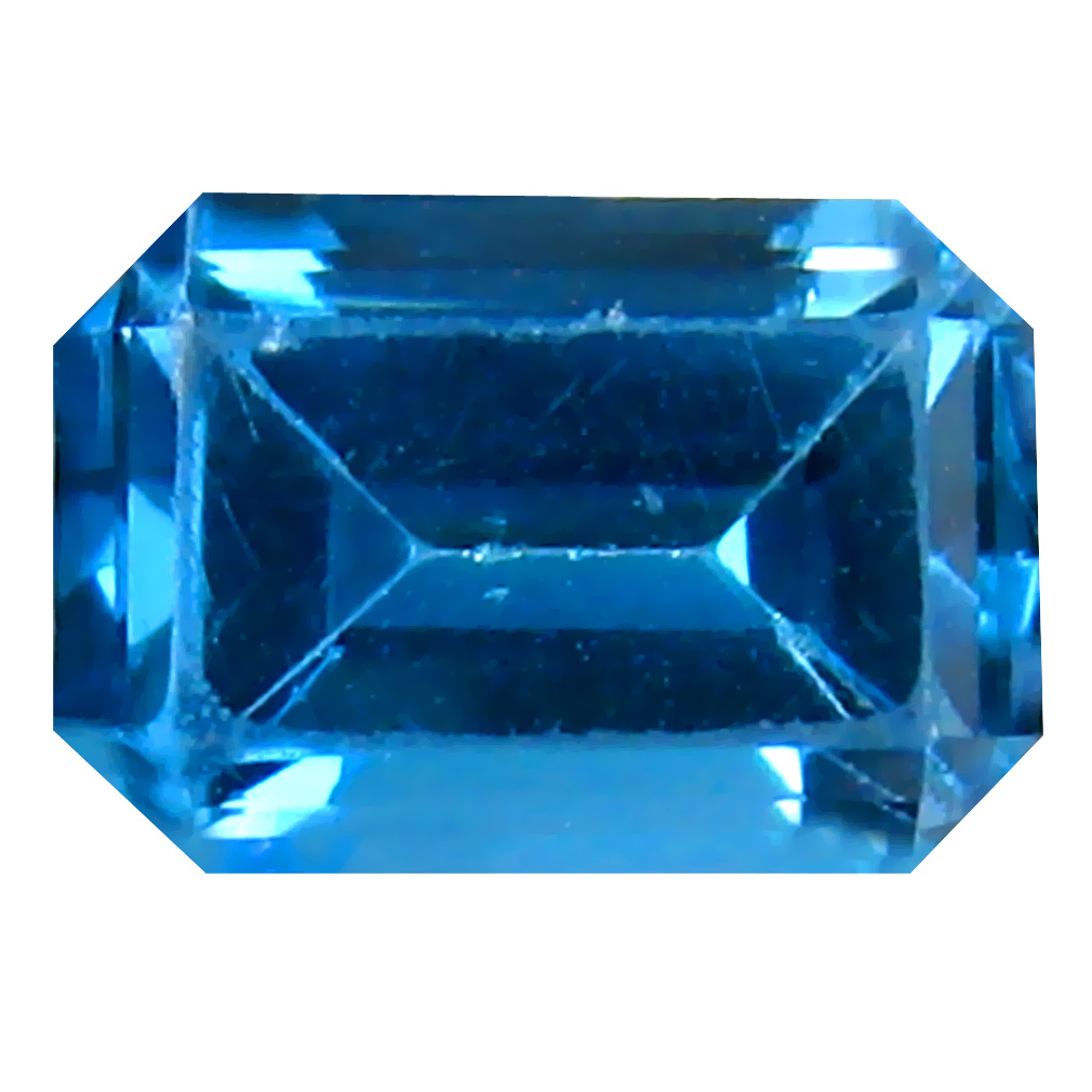 1.09 ct Amazing Octagon (7 x 5 mm) Brazilian London Blue Topaz Loose Gemstone