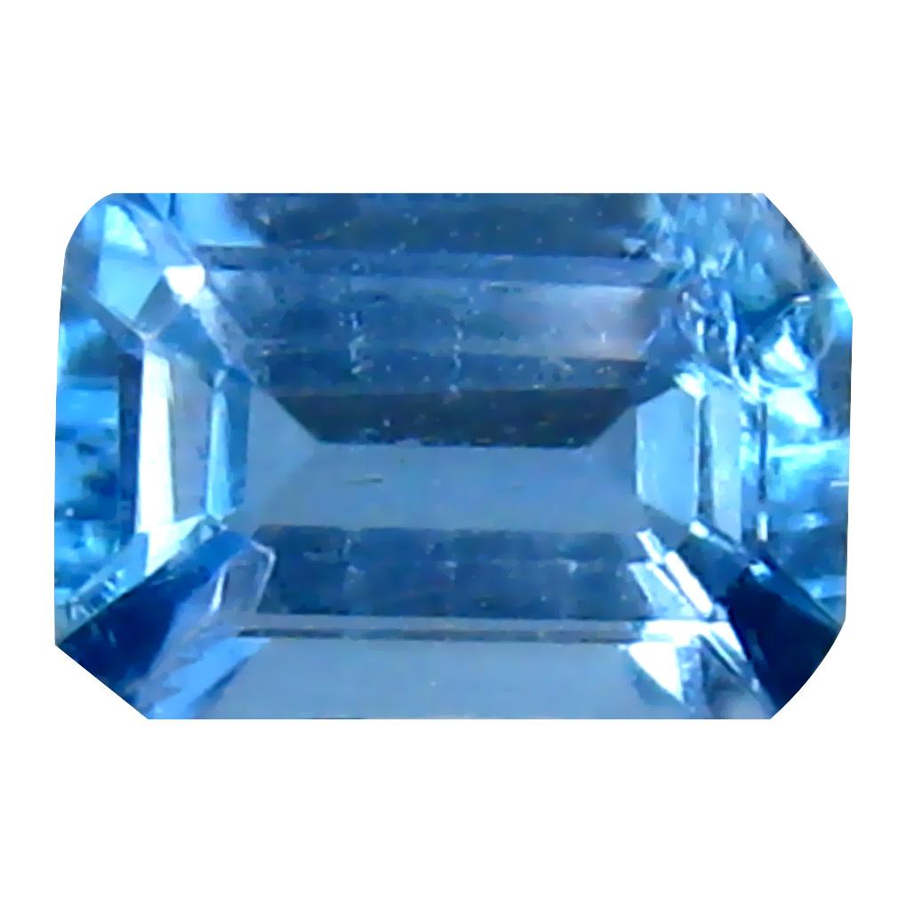 0.45 ct Valuable Octagon (6 x 4 mm) Brazilian London Blue Topaz Loose Gemstone