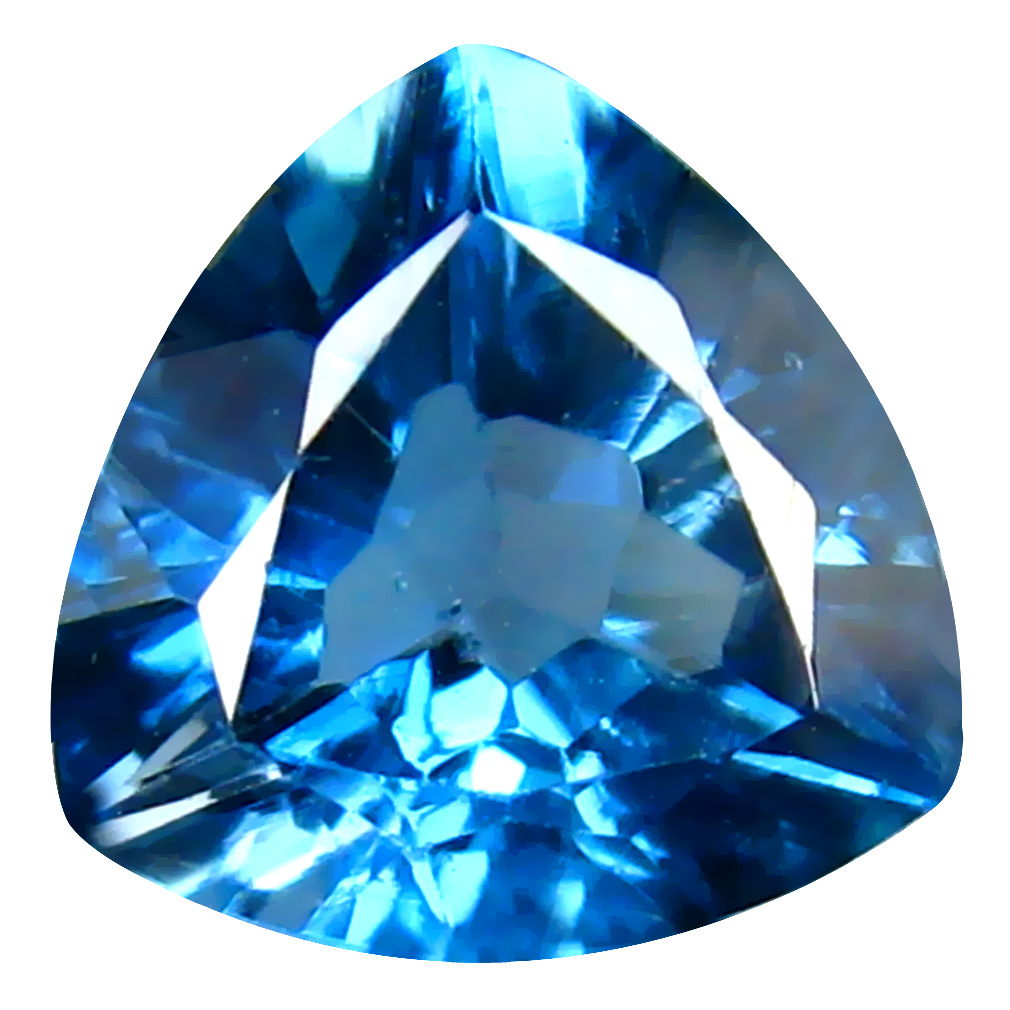 2.16 ct Good-looking Trillion (8 x 8 mm) Brazilian London Blue Topaz Loose Gemstone