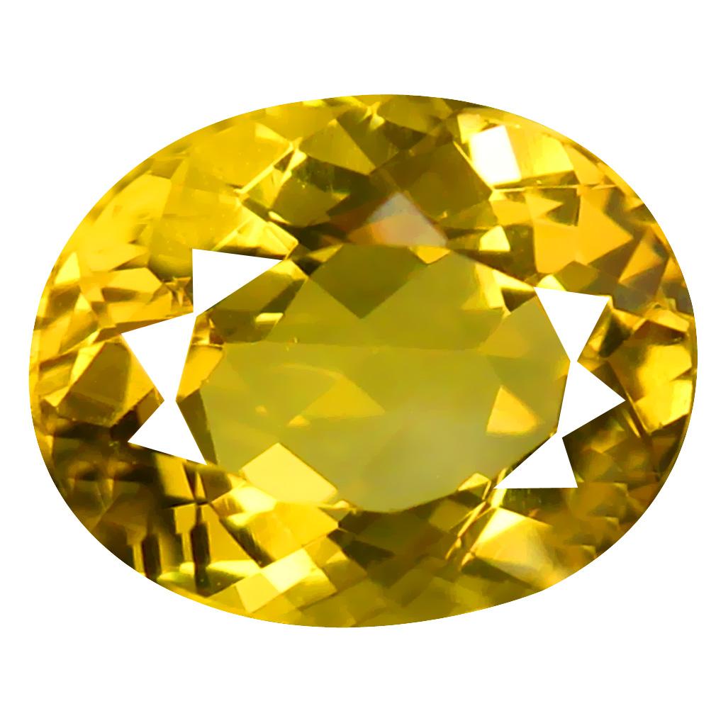 2.42 ct First-class Oval Cut (10 x 8 mm) Un-Heated Golden Yellow Citrine Natural Gemstone