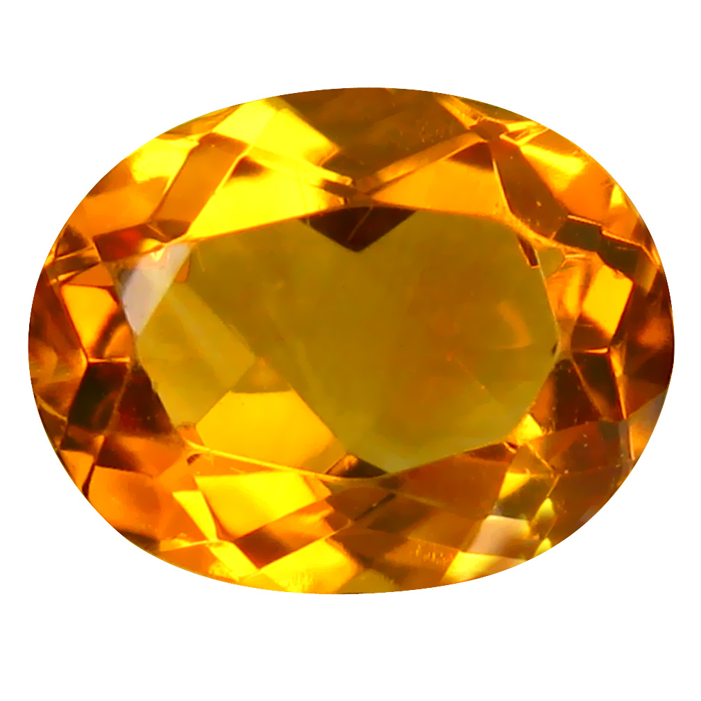 11.52 ct Good-looking Oval Cut (2 x 10 mm) Un-Heated Golden Yellow Citrine Natural Gemstone