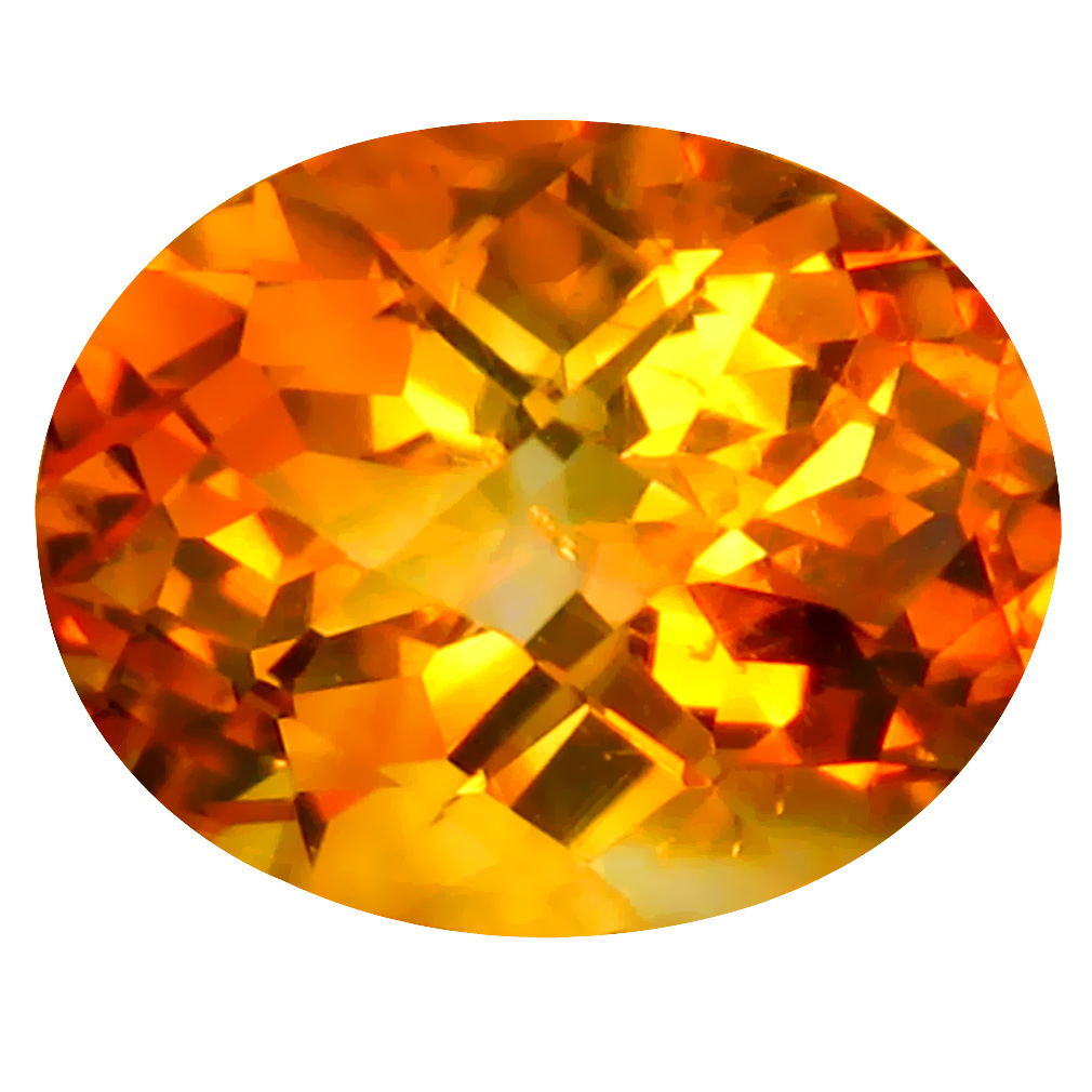 2.77 ct Eye-popping Oval Cut (10 x 8 mm) Un-Heated Golden Yellow Citrine Natural Gemstone