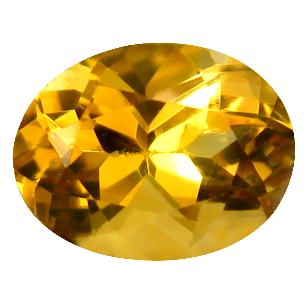 1.93 ct Attractive Oval Cut (9 x 7 mm) Un-Heated Golden Yellow Citrine Natural Gemstone