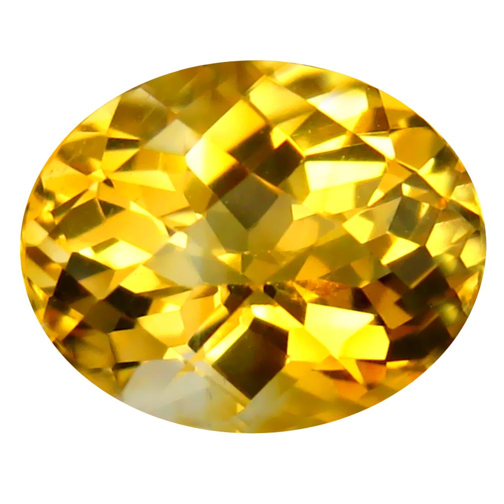 2.65 ct Resplendent Oval Cut (10 x 8 mm) Un-Heated Golden Yellow Citrine Natural Gemstone