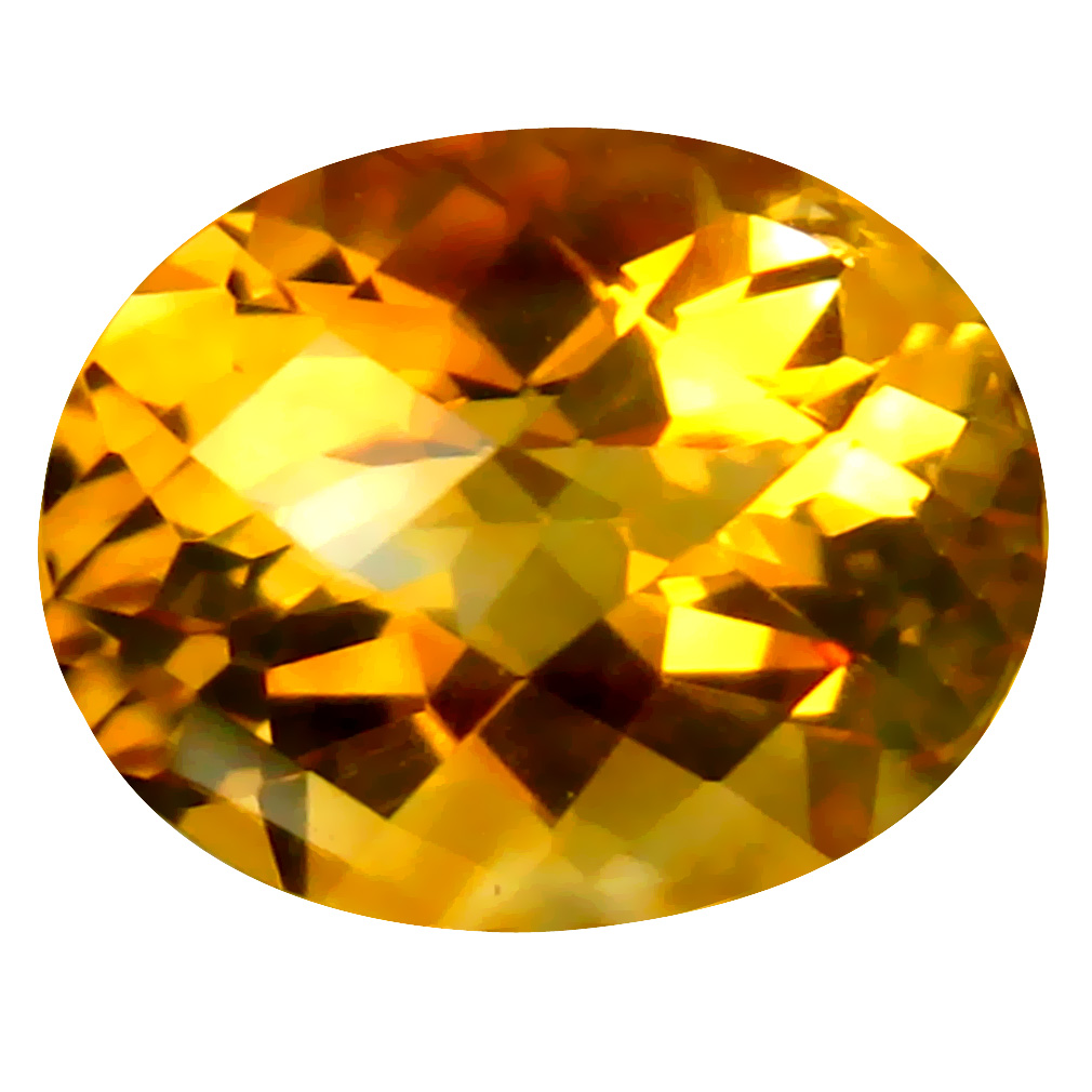 2.44 ct Charming Oval Cut (10 x 8 mm) Un-Heated Golden Yellow Citrine Natural Gemstone