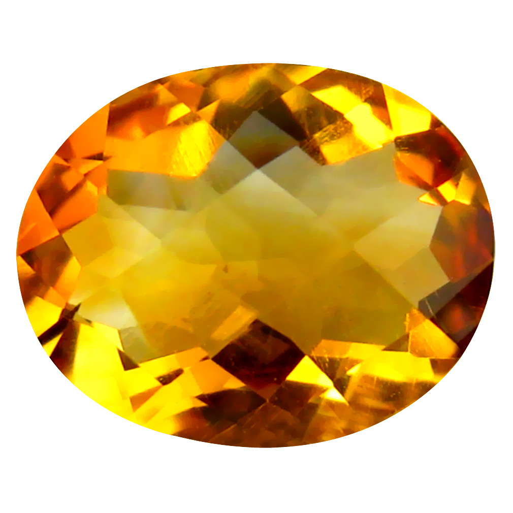 1.95 ct Eye-popping Oval Cut (10 x 8 mm) Un-Heated Golden Yellow Citrine Natural Gemstone