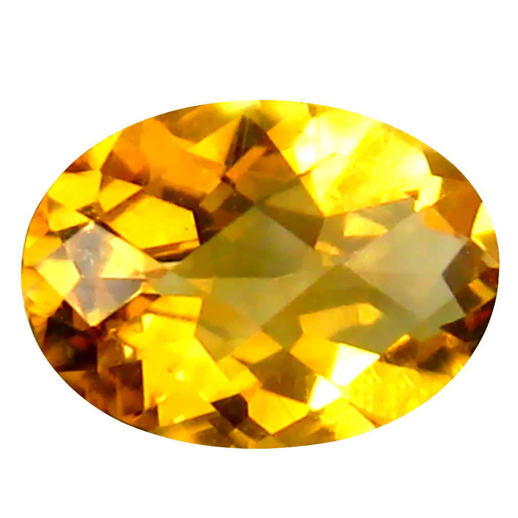 0.55 ct Magnificent Oval Cut (7 x 5 mm) Un-Heated Golden Yellow Citrine Natural Gemstone