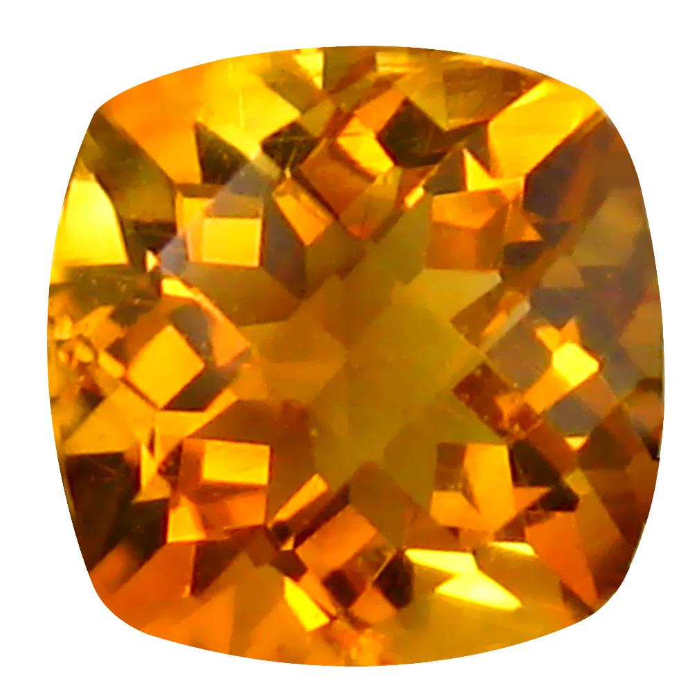 0.70 ct Stunning Cushion Cut (5 x 5 mm) Un-Heated Golden Yellow Citrine Natural Gemstone