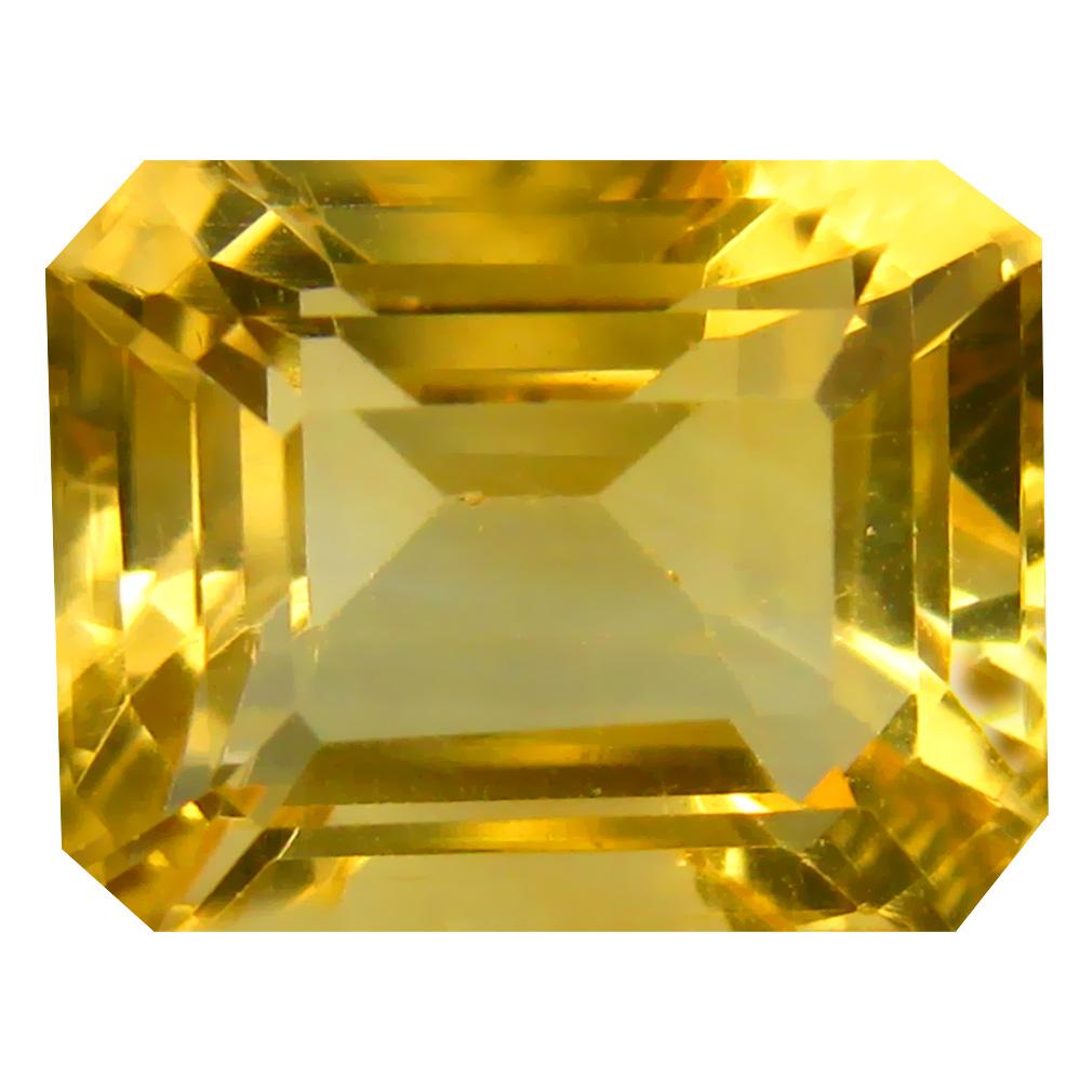 7.05 ct Magnificent fire Octagon Cut (12 x 10 mm) Un-Heated Golden Yellow Citrine Natural Gemstone